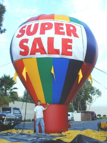 Cold-Air Advertising Balloons